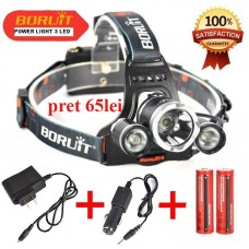 Lanterna Frontala High power headlamp cu 3 Leduri CREE T6 R5