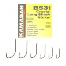 Carlige Kamasan B531 Crystal Long Shank Nichel