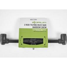Buzz Bar Korum Speed Fit 2 Rod Tilting Narrow, 2 Posturi, 28cm