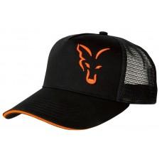 SAPCA FOX BLACK & ORANGE TRUCKER CAP